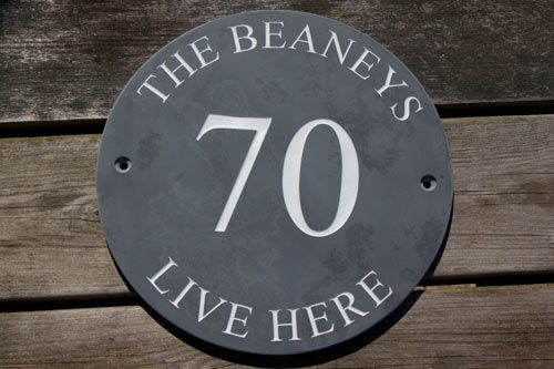 Online Sign Maker | Round Slate House Signs